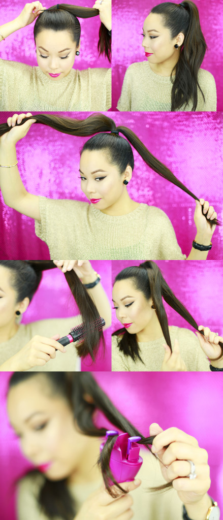 Rope Braid Bun Tutorial 1