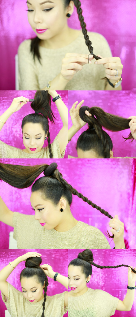 Rope Braid Bun Tutorial 3