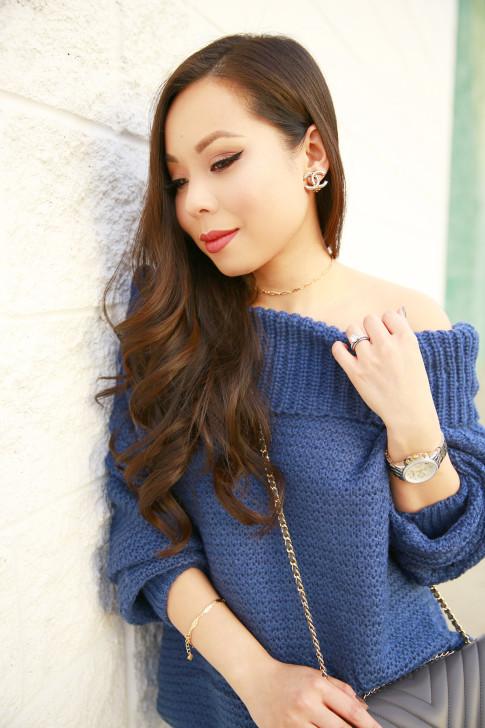 An Dyer wearing Chanel Clip On Earrings