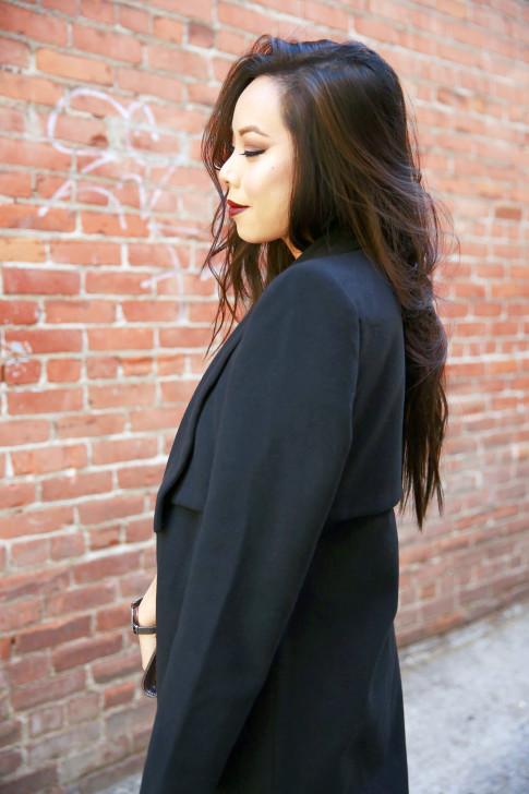An Dyer wearing Ro&DeNoir SIENNA COAT