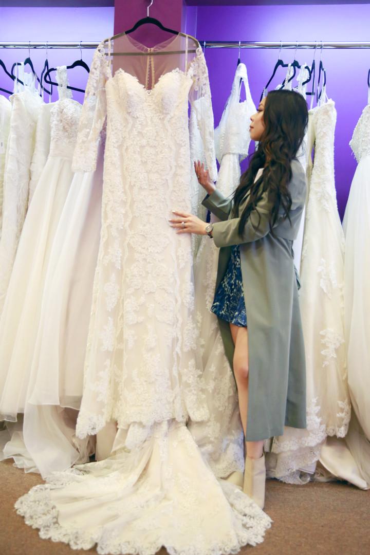 Stella York Long Sleeve Wedding Dress
