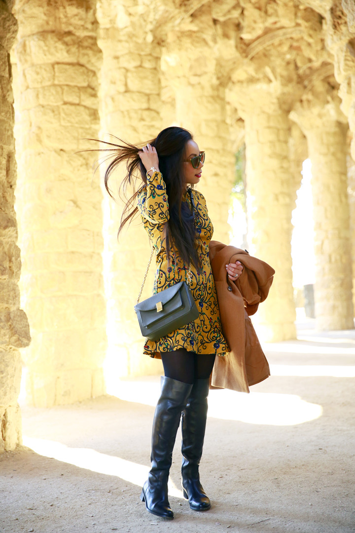 An Dyer wearing ChicWish at Park Guell Barcelona Spain