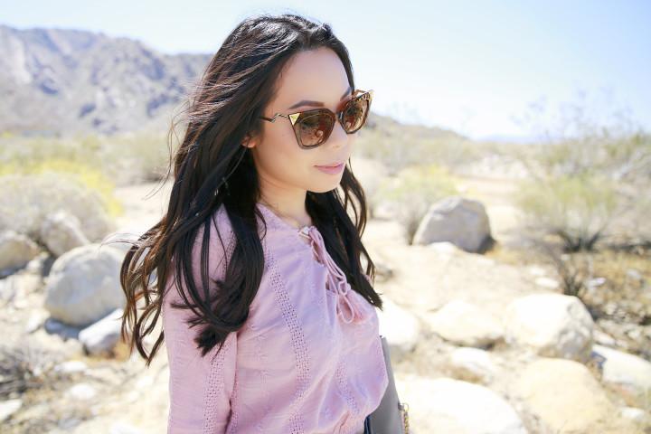 An Dyer Coachella 2016 wearing Charming Charlie