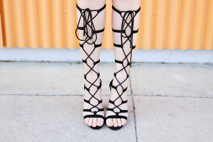 An Dyer wearing Call It Spring Gladiator Sandals
