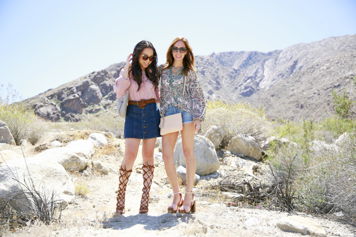 An Dyer with Sydne Summer Coachella 2016 Street Style