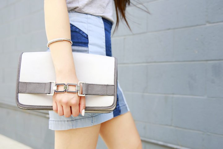 An Dyer wearing Charming Charlie Clutch and Cuff Bracelet