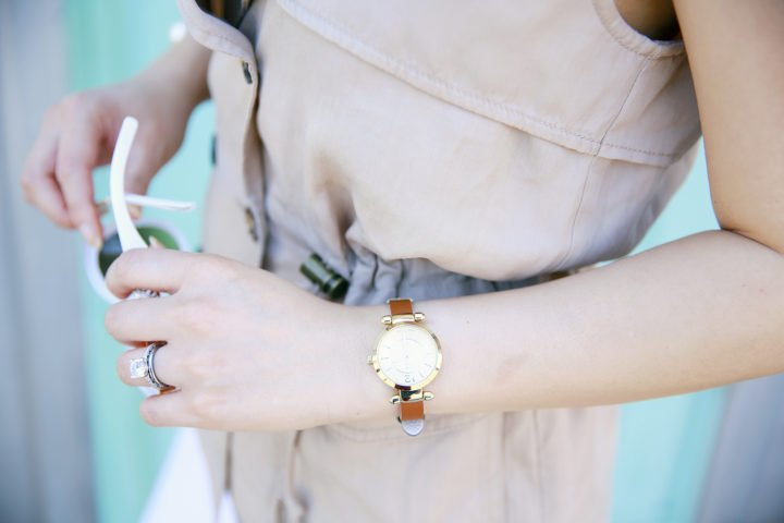 An Dyer wearing Charming Charlie Watch'