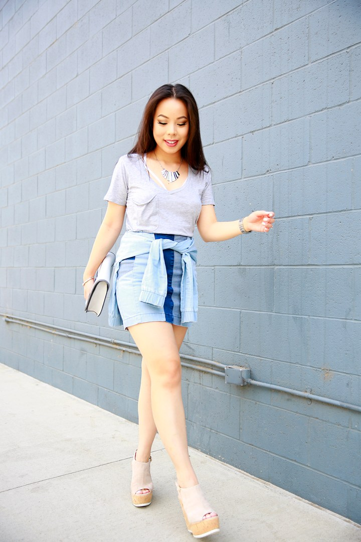 An Dyer wearing La Canadienne Wedges
