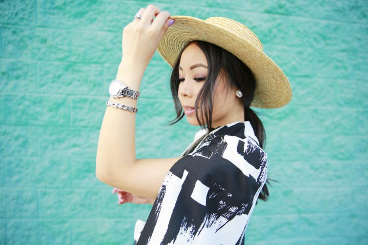 An Dyer wearing Boater Hat