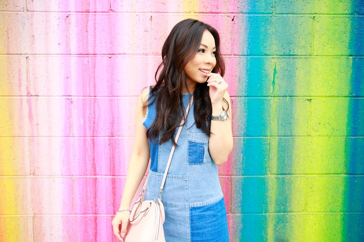 An Dyer wearing 91ltd Denim Dress Cotton On