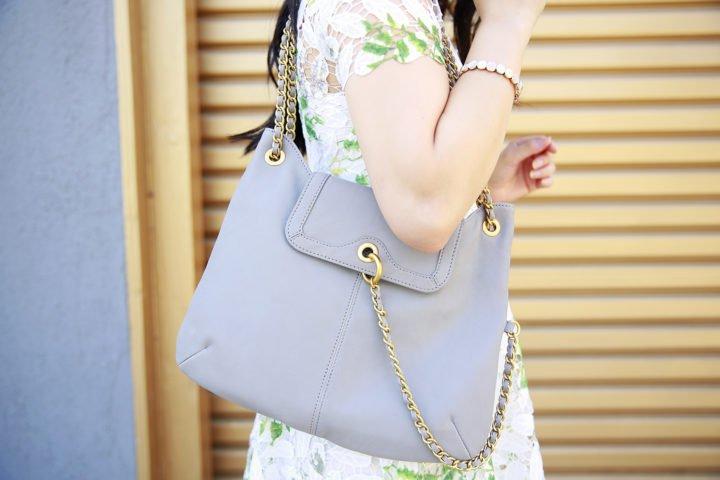 An Dyer wearing Sarah Jessica Parker Handbag
