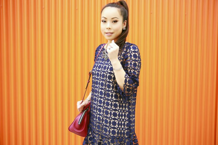 an-dyer-wearing-chicwish-navy-crochet-dress-with-rpzl-ponytail-extension
