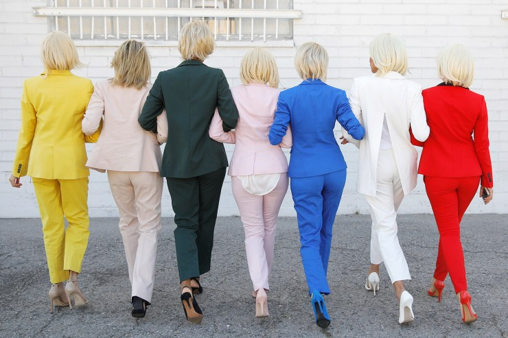hillary-rainbow-halloween-pant-suits-behind