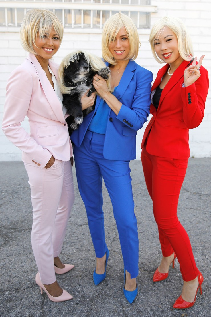 sheryl-sydne-an-bunny-wearing-hillary-pantsuit-costume-halloween