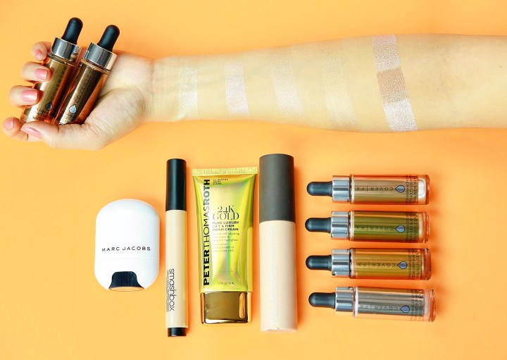 top-5-liquid-cream-highlights-cover-fx-becca-peter-thomas-roth-24k-gold-smashbox-pearl-marc-jacobs-spotlight-highlighter