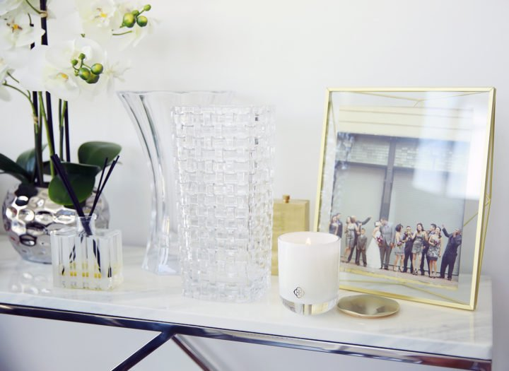 Lamps Plus Crystal Vase with Kendra Scott Candles Home Crystal Umbra Gold Frame