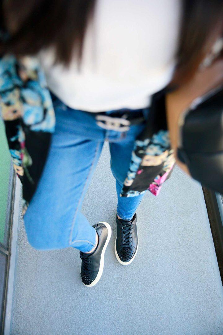 Fashion Blogger An Dyer wearing Koio Earl Jeans Chanel Belt