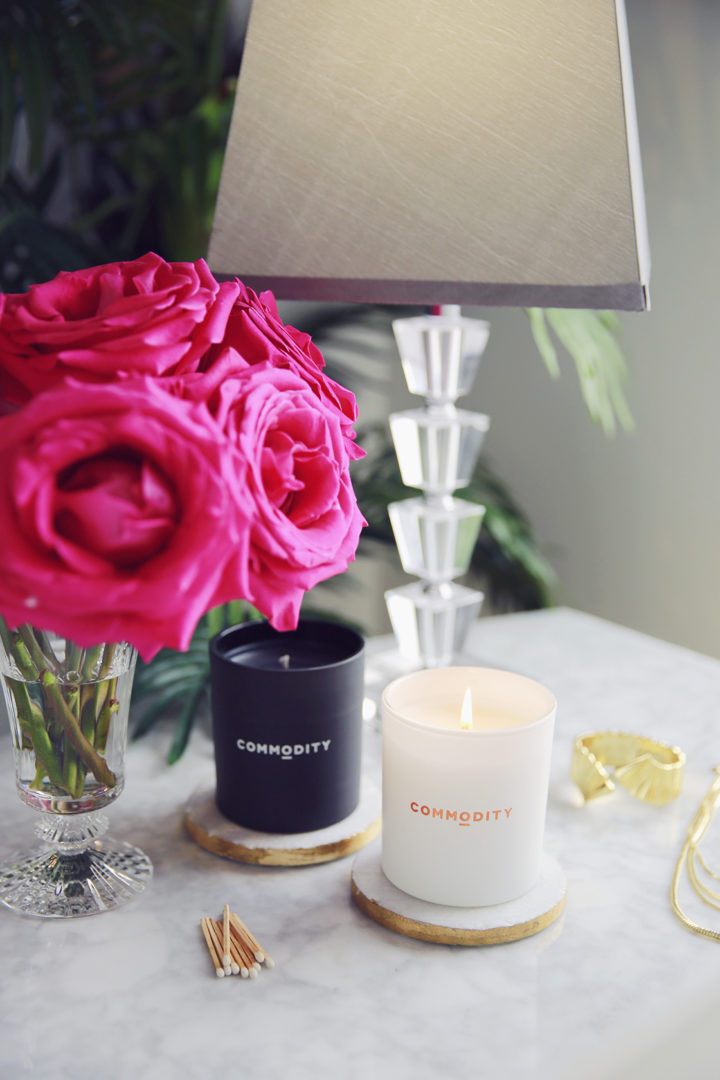 Lifestyle Home Decor Blogger styles Baccarat Crystal with Commodity Candles