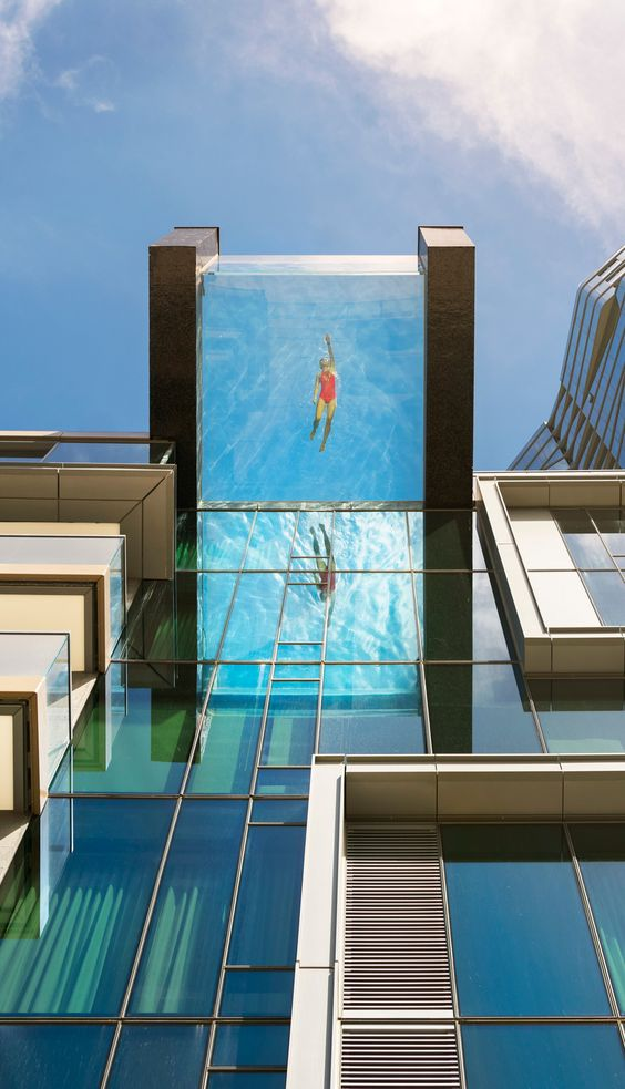 Glass Bottom Pool Houston : glass, bottom, houston, Crazy,, Sexy,, Cool:, Ultra, Deluxe, Apartments, Glass-Bottomed, Pools, Haute, Residence:, Featuring, Luxury, Estate, Interior, Design