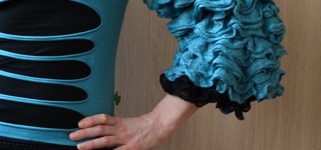 Ruffle Armwarmer / Sleeve
