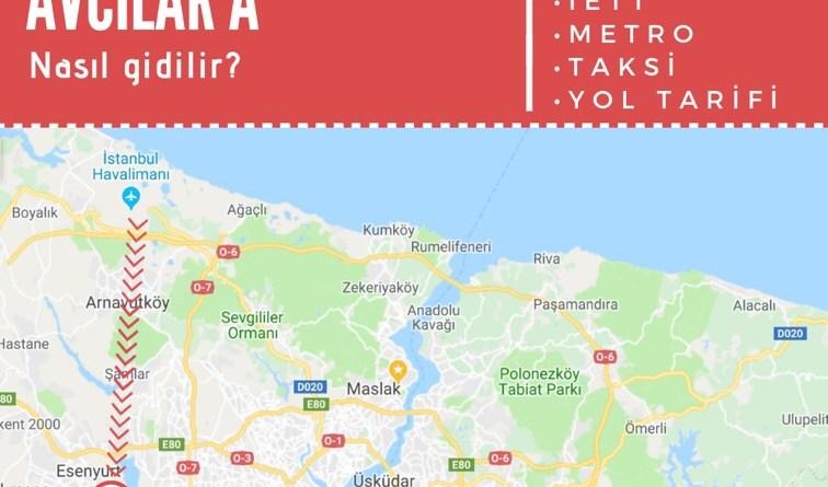 istanbul havalimanından avcılara ulaşım