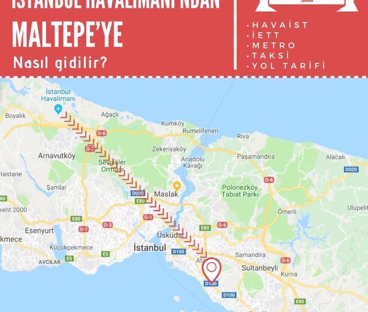 İstanbul Havalimanı'ndan Maltepe'ye Ulaşım Bilgileri