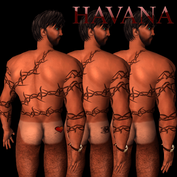 Tan Line Combo (with heart tattoo, with tribal tattoo and simple, for tanned skins)