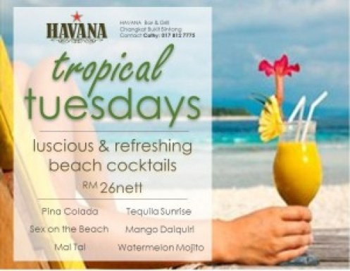 Tropical Tuesday Poster Beach 27Jun16