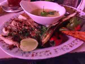 Fresh fish plate at el del frente in old havana cuba