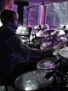 drummer chaz chambers playing live with ringling bros