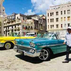 vintage car tour during the vip music tour in Cuba
