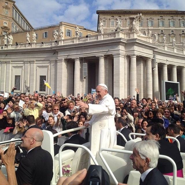 We were able to get very close to Pope Francis when we attended the Papal Audience.