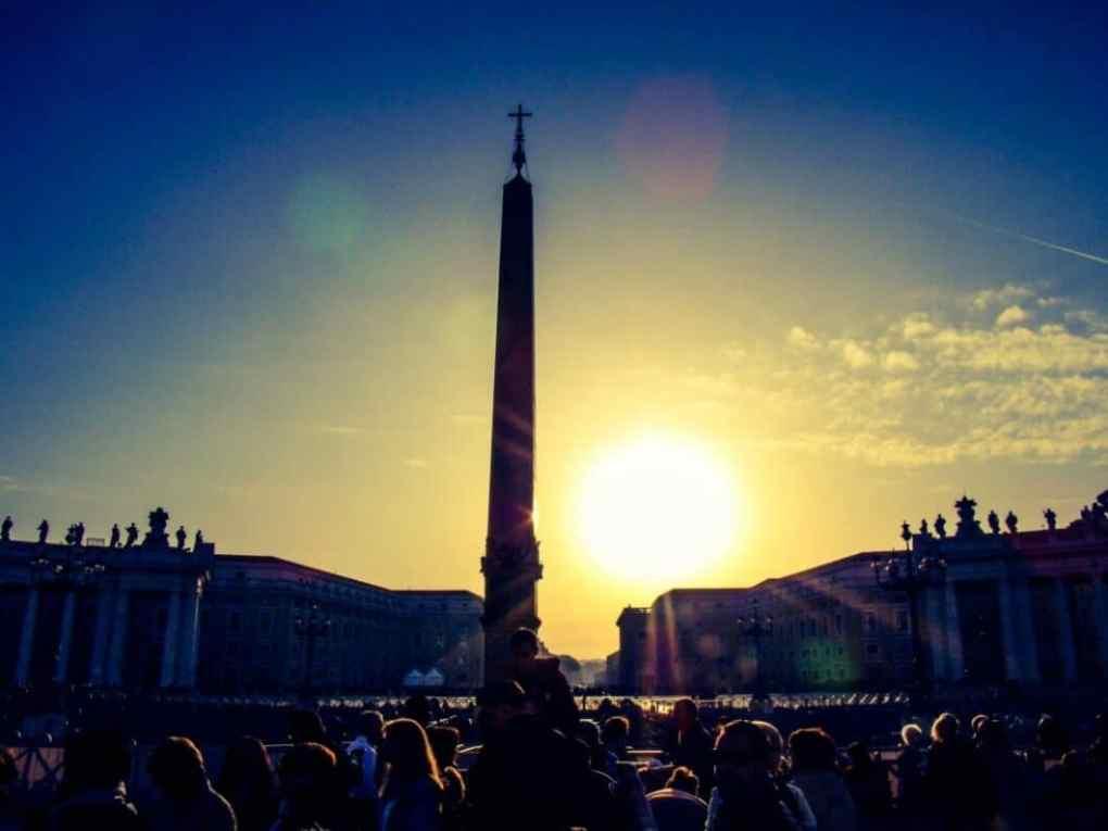 The Egyptian obelisk in St. Peter's Square.
