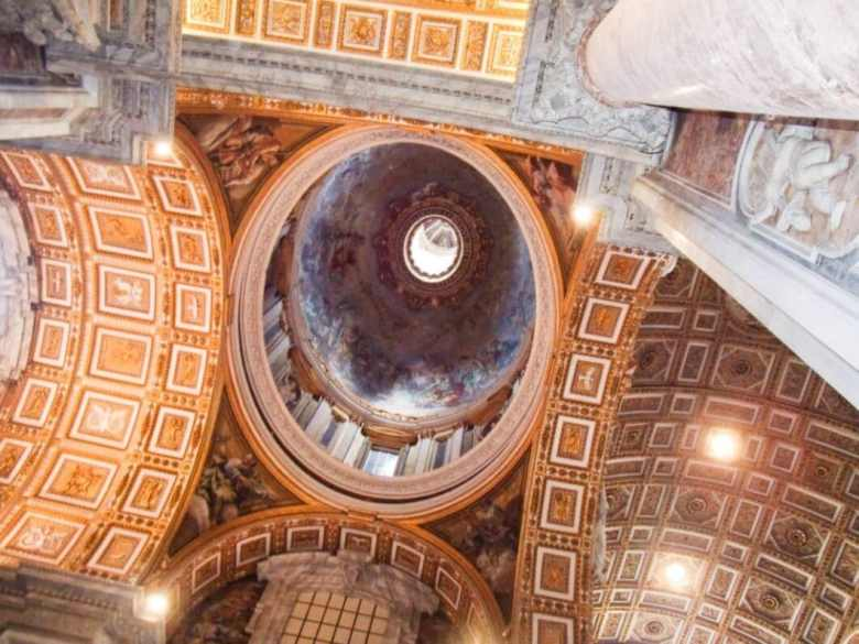 The ceiling of St. Peter's Basilica.