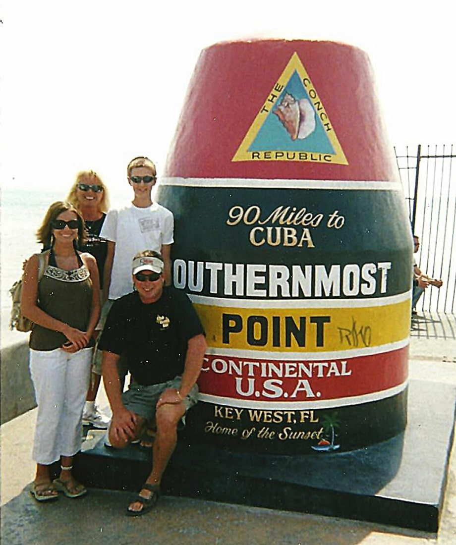 My brother and me in Key West, with my Aunt and Uncle.