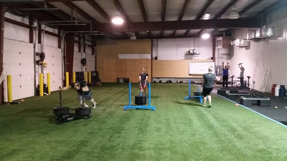 Pushing and pulling the prowler at FlexFit.