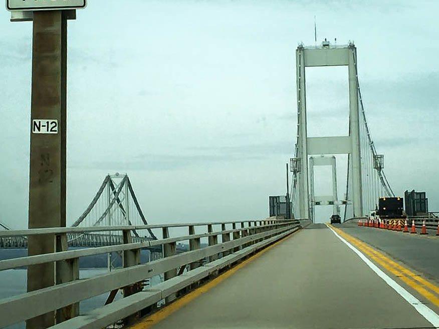 Driving across the Chesapeake Bay Bridge. (Photo credit: Trina)