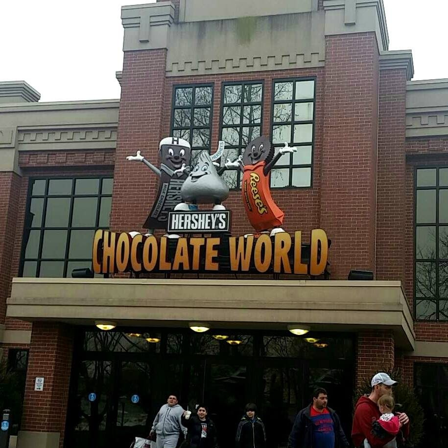 We made a pit stop in Hershey, PA at Hershey's Chocolate World! (I think we were the only adults without small children there. Haha.)