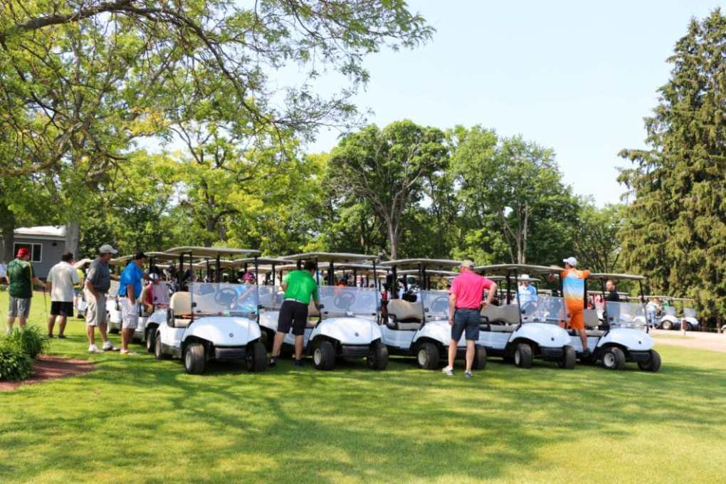 Just before the start of Golfing for Veterans!
