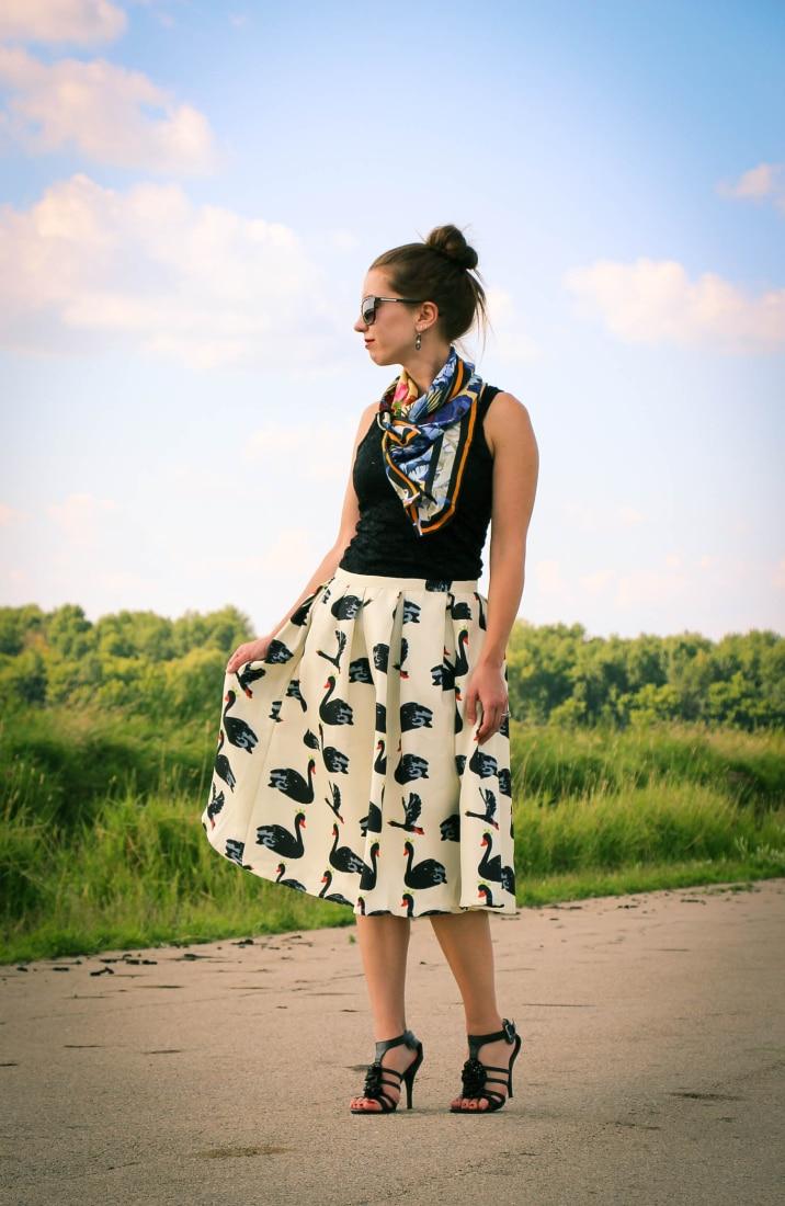 Black Swan Skirt & Demon TZ scarf