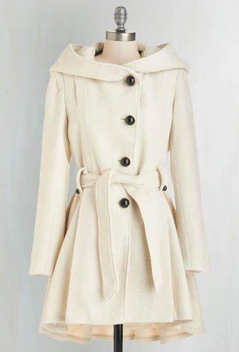 Hooded coat: Steve Madden