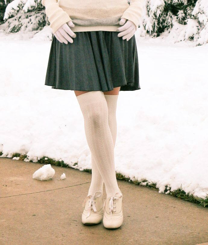 ModCloth skirt & socks