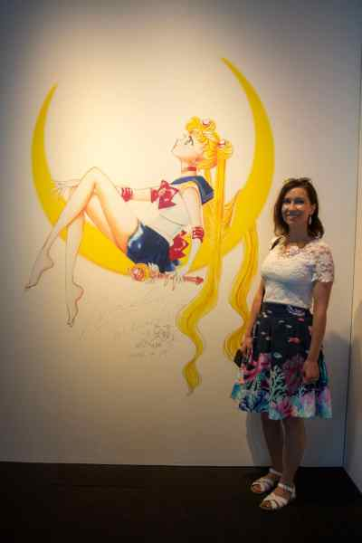 sailor moon exhibit