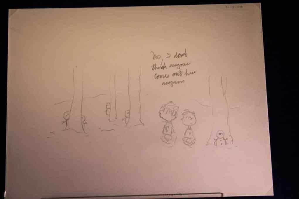 Peanuts preliminary sketches