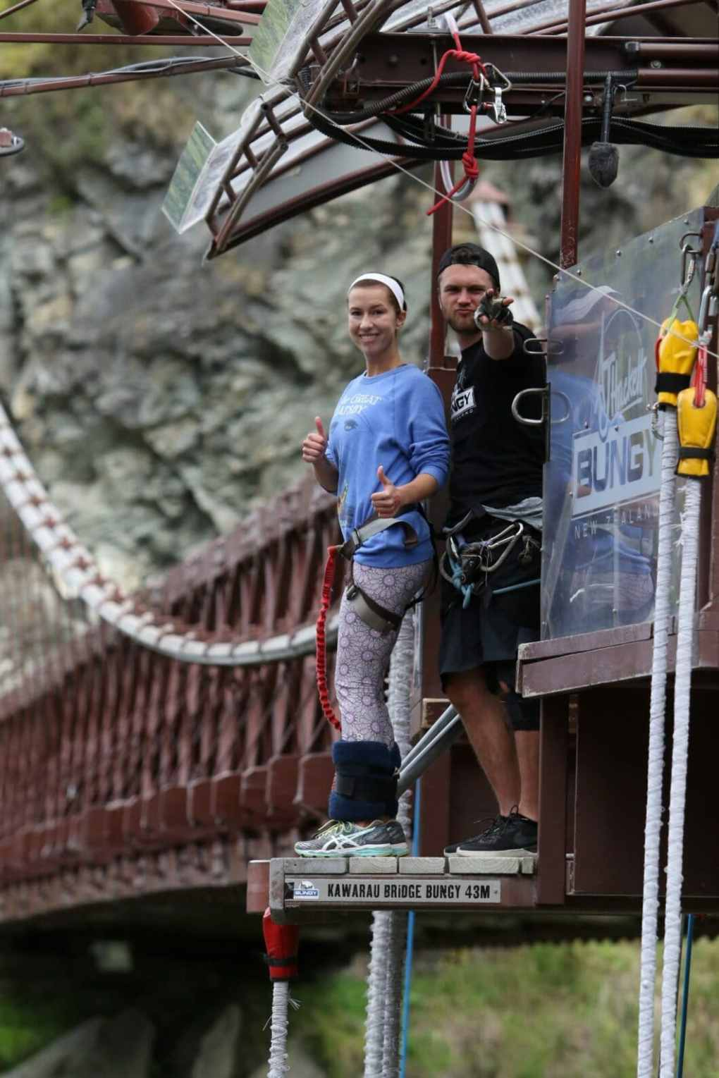 The Kawarau Bridge Bungy World's first bungy New Zealand