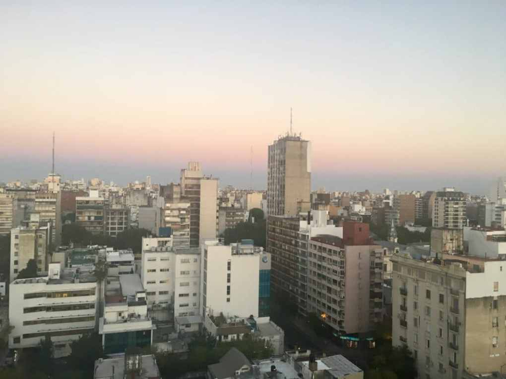 Rosario, Argentina at sunset