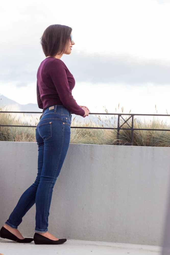 Review Cardigan & Judy Blue Jeans High Waisted