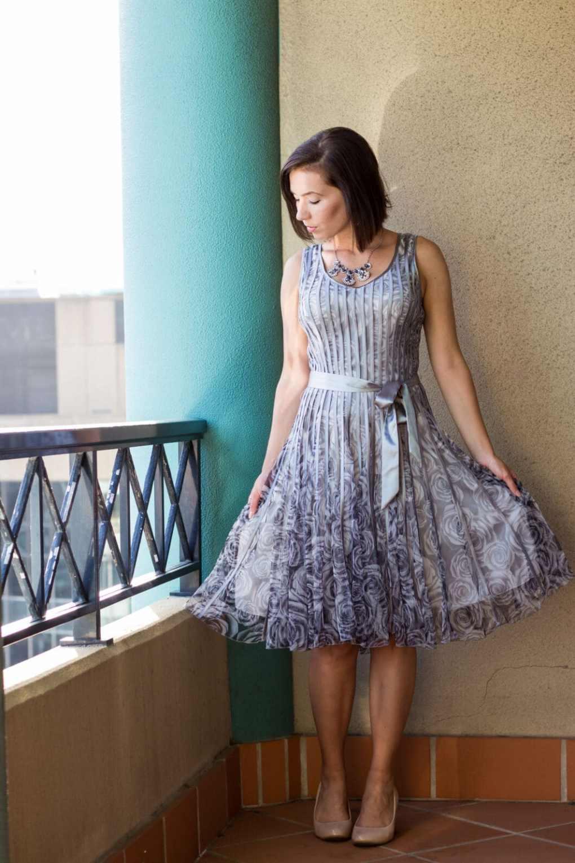 Grey flapper dress