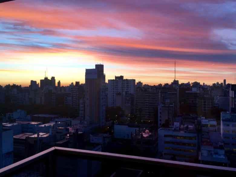 Yesterday's sunrise in Rosario.