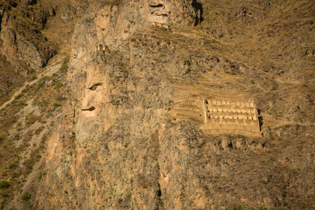 Old man face in Ollantaytambo